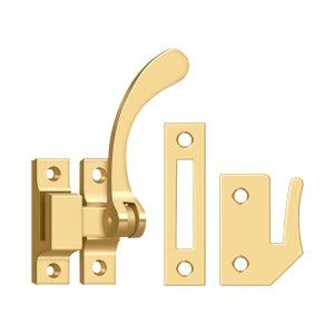 "Deltana CF450 4-1/2"" Reversible Window Lock Casement Fastener - Solid Brass"