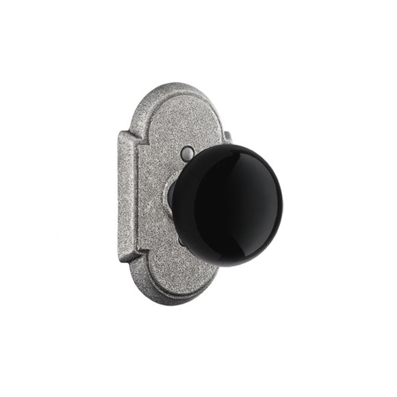 Emtek Madison Black Knob Set - Passage