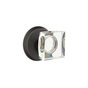 Emtek Bronze Modern Square Knob Set - Passage