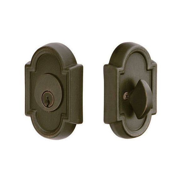 Emtek #11 Tuscany Bronze Deadbolt - Single Cylinder