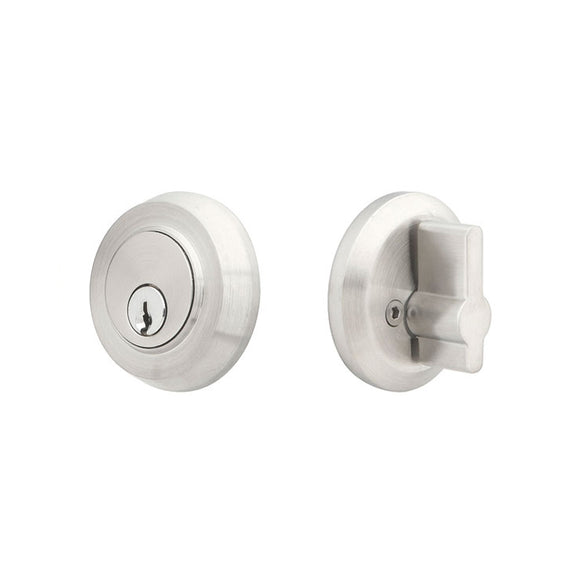 Emtek Stainless Steel Round Deadbolt - Single Cylinder