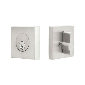 Emtek Stainless Steel Square Deadbolt - Single Cylinder
