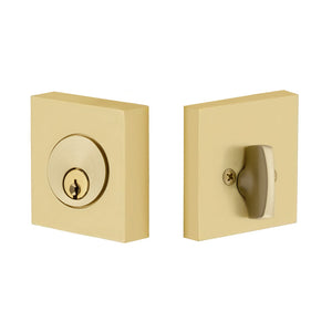 Emtek Square Deadbolt - Single Cylinder