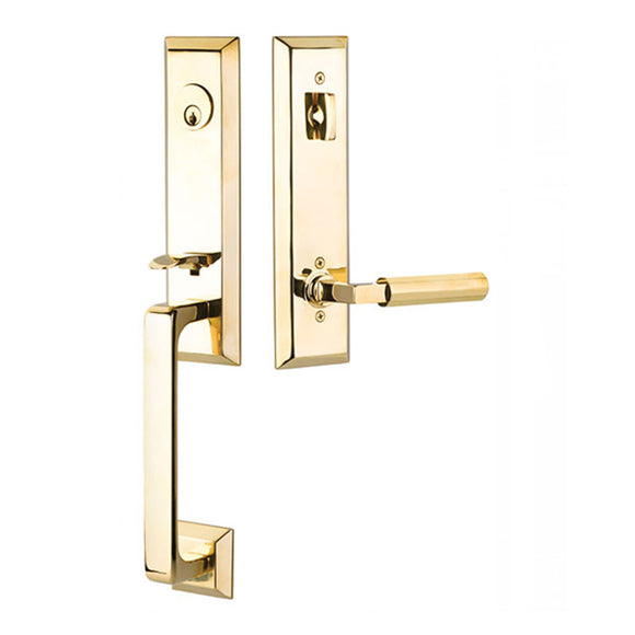 Emtek Transitional Heritage Monolithic Entry Handleset - Single Cylinder