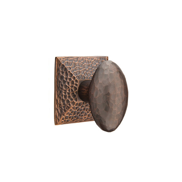Emtek Traditional Hammered Egg Knob Set - Dummy