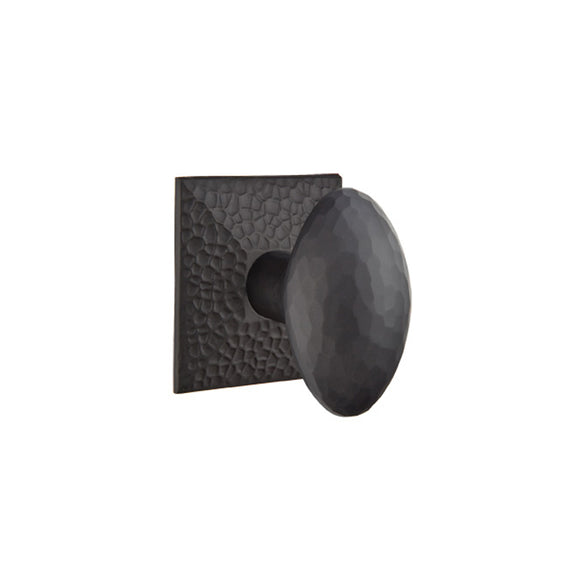 Emtek Traditional Hammered Egg Knob Set - Privacy