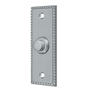 Deltana BBSR333 Rectangular Rope Door Bell Button - Solid Brass