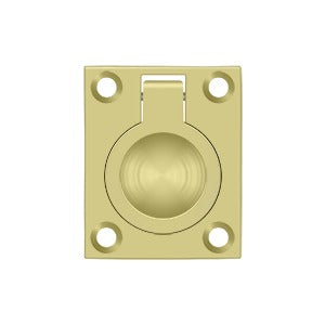 "Deltana FRP25 2-1/2"" Flush Ring Pull - Solid Brass"