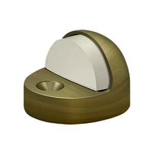 "Deltana DSHP916 1-3/8"" High Profile Door Bumper with Dome Cap - Solid Brass"