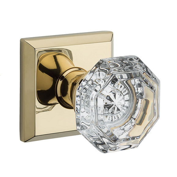 Baldwin Crystal Knob Set - Privacy