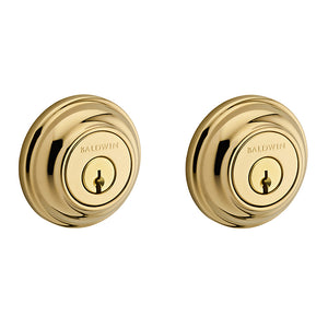 Baldwin Traditional Round Deadbolt - Double Cylinder