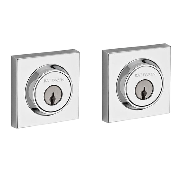 Baldwin Contemporary Square Deadbolt - Double Cylinder