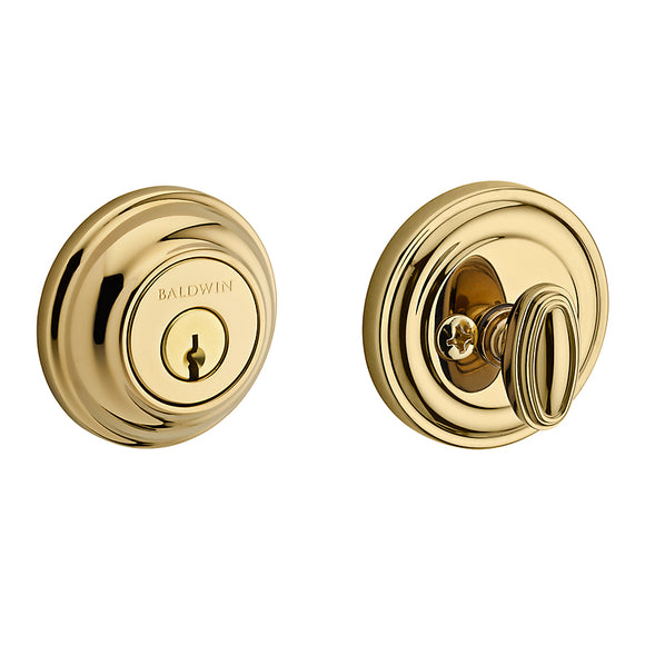 Baldwin Traditional Round Deadbolt - Single Cylinder