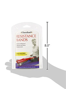 TheraBand Resistance Band Yellow & Red & Green, Beginner Set