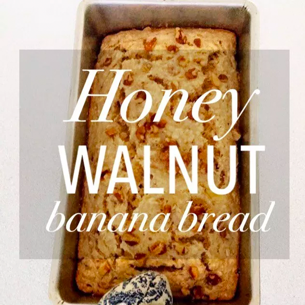 WALNUT BANANA BREAD with HONEY POWDER