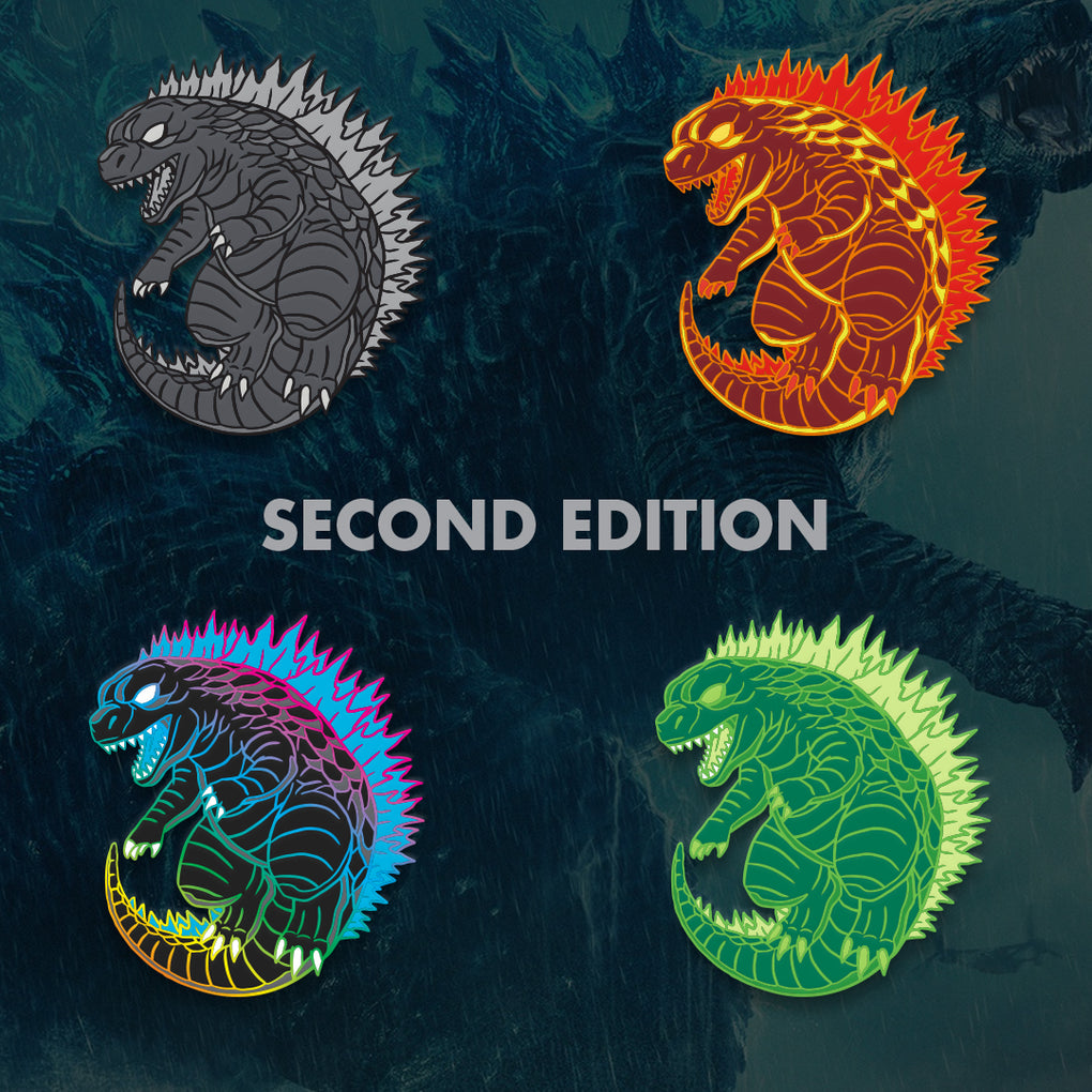 Godzilla Second Edition - Occultcreations - Custom - Enamel Pins
