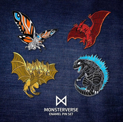 Monsterverse pin set - pick your monster - Occultcreations - Custom - Enamel Pins