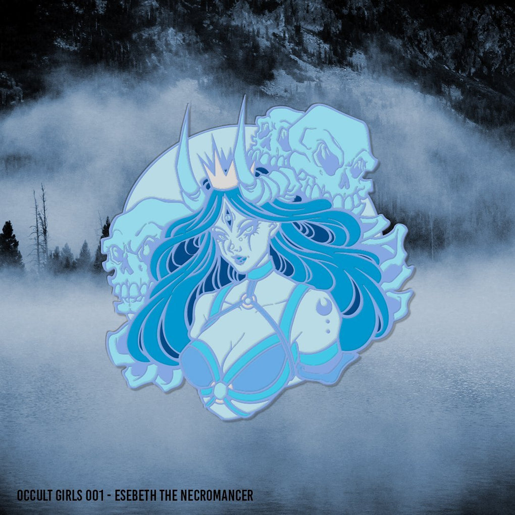 Occult Girls - Esebeth The Necromancer Enamel Pin - Occultcreations