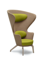 Beige High Back Kona Wingchair