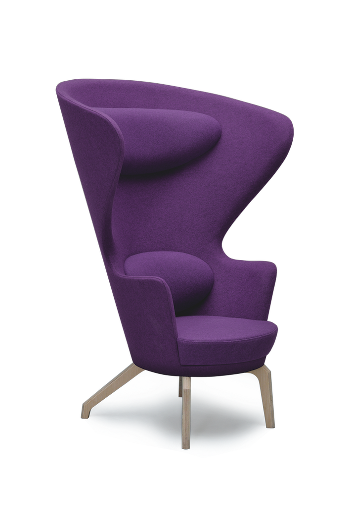 Violet High Back Kona Wingchair