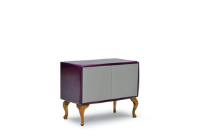High Gloss Violet Lacquer 21 Pepe Cabinet