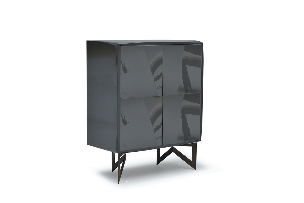 High Gloss Anthracite Lacquer 22 Pepe Cabinet
