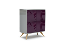 High Gloss Grey Lacquer 22 Pepe Cabinet