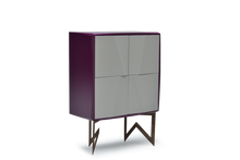 High Gloss Violet Lacquer 22 Pepe Cabinet