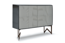 High Gloss Anthracite Lacquer 42 Pepe Cabinet