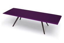 Pedi Table with High Gloss Violet Lacquer