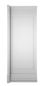 B-width White Lacquer Kosa Wall Panel
