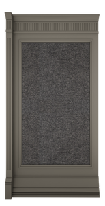 C-width Grey Lacquer Kosa Wall Panel