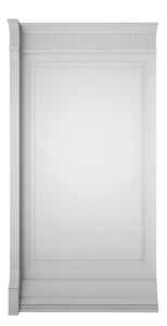 C-width White Lacquer Kosa Wall Panel