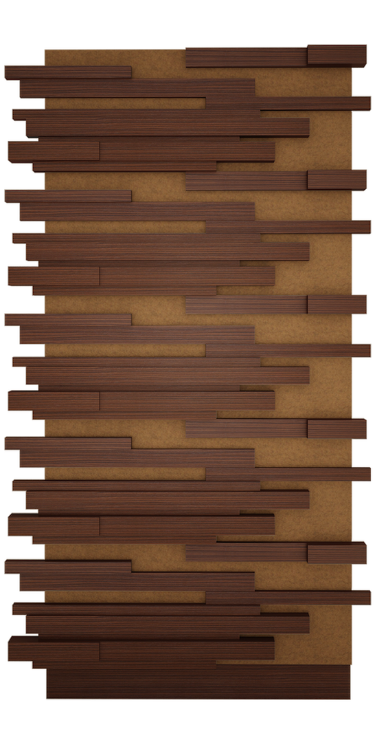 Walnut and Fabric Sapa Wall Panel