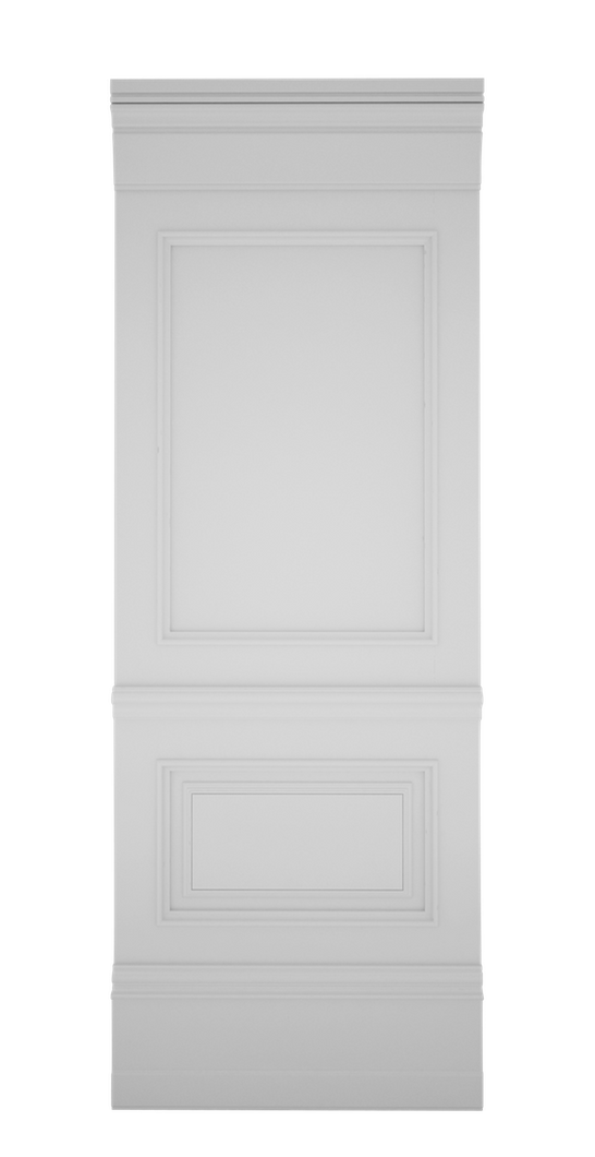 B-width A-type White Lacquer Zaga Wall Panel