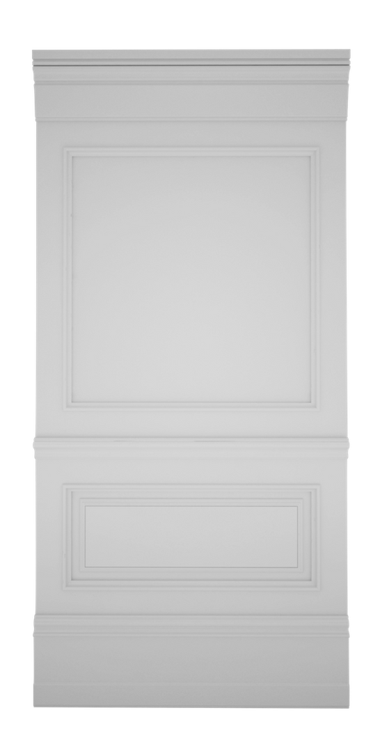 C-width A-type White Lacquer Zaga Wall Panel