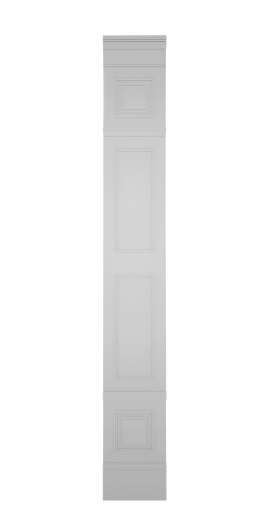A-width A-type High White Lacquer Zaga Wall Panel