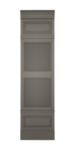 C-width A-type High Grey Lacquer Zaga Wall Panel