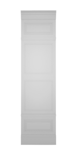C-width A-type High White Lacquer Zaga Wall Panel