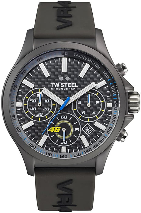 TW Steel Unisex TW935 VR46 Analog Display Quartz Black Watch