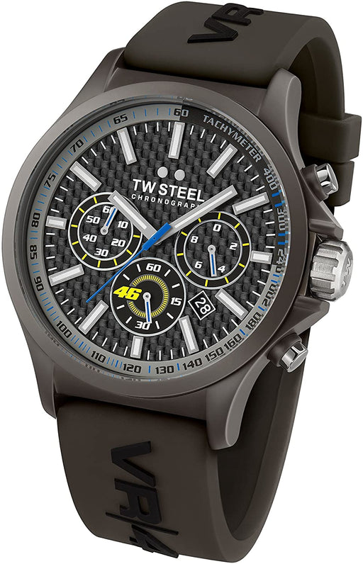 TW Steel Unisex TW936 VR46 Analog Display Quartz Black Watch