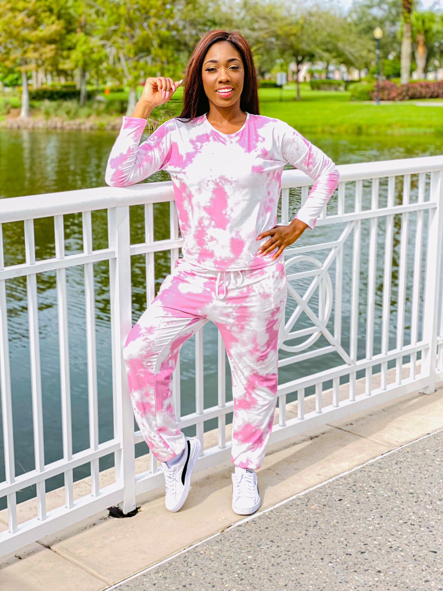 Chill With Me - Tie Dye Long Sleeve Jogger Set. - TheSimKaiShoppe Fashion Women & Children's Clothing, Jewellery & Accessories