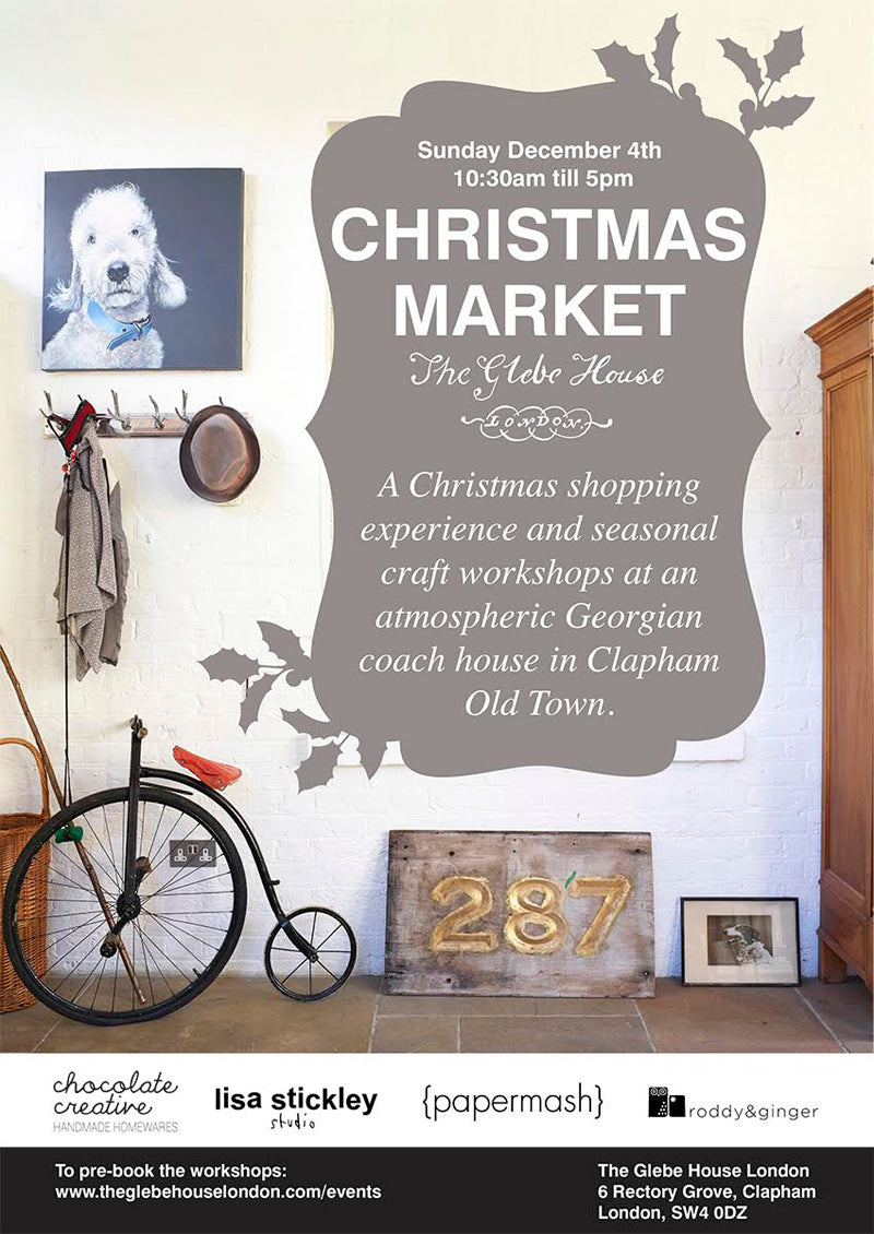 Christmas market at Glebe House London