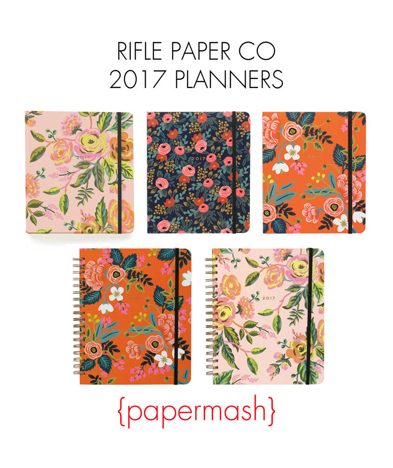 Rifle Paper Co 2017 planners
