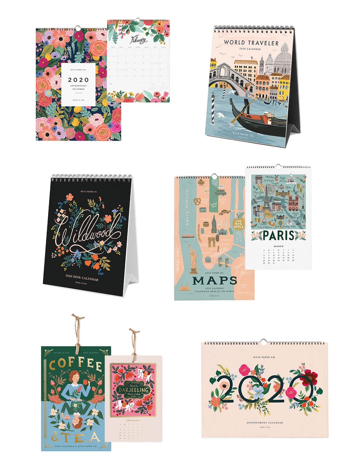 Rifle Paper Co 2020 calendars UK
