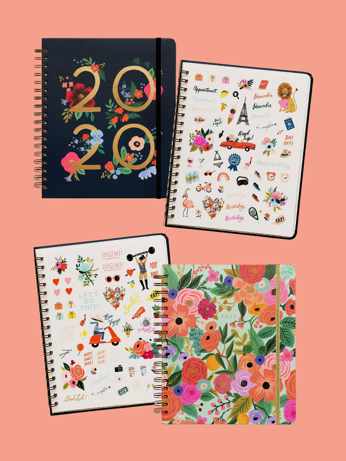 Rifle Paper Co 2020 wild rose large planner