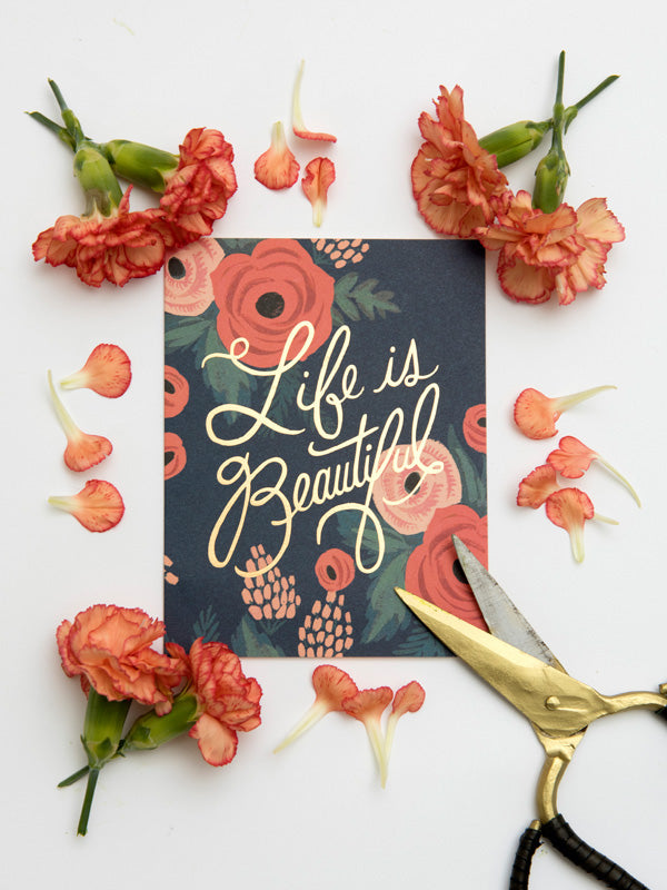 Rifle Paper Co Life is Beautiful card