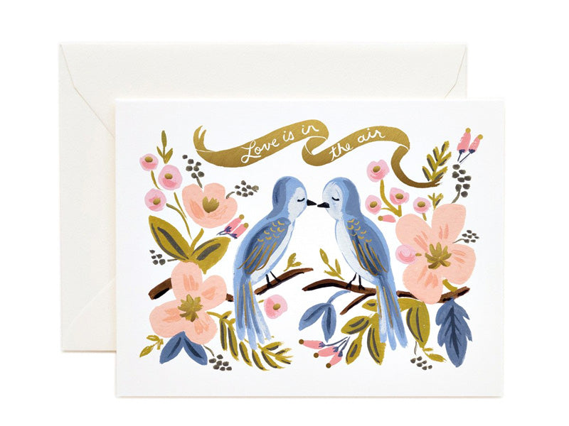 Rifle Paper Co love is in the air card