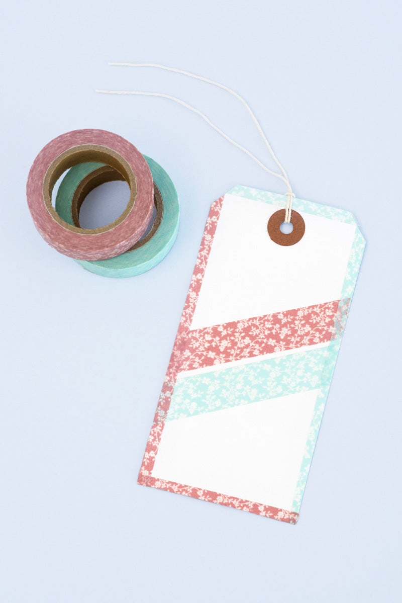 Washi taped gift tag