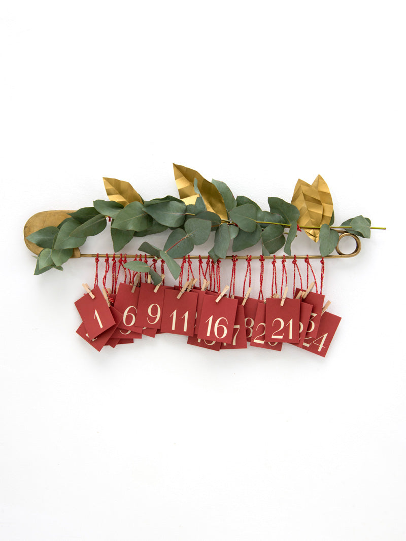 Safety pin advent calendar